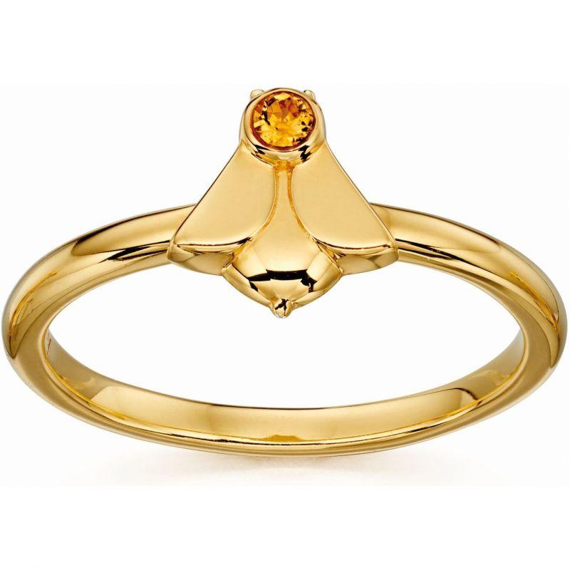 Ladies Orla Kiely Sterling Silver Bee Ring R3496-60