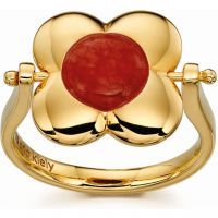 Ladies Orla Kiely Sterling Silver Rotating Flower Ring