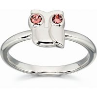 Ladies Orla Kiely Sterling Silver Owl Ring