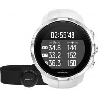unisexe Suunto Spartan Sport Bluetooth White HR bundle Alarm Chronograph Watch SS022650000