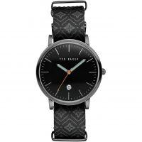 Herren Ted Baker Printed Leder Armband Uhr