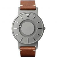 Unisex Eone The Bradley Classic Cognac Leather Strap Titanium Watch