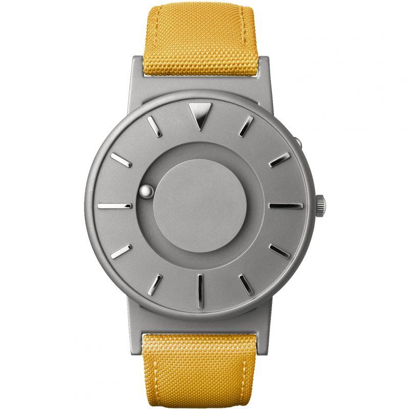 Unisex Eone The Bradley Canvas Mustard Yellow Strap Titanium Watch