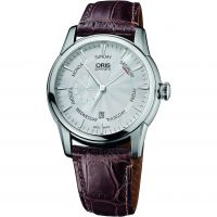 Mens Oris Artelier Small Second Pointer Day Crocodile Leather Strap Automatic Watch