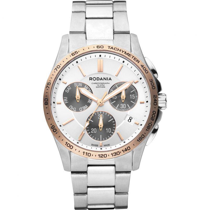Mens Rodania Swiss Marin Gents Bracelet Chronograph Watch