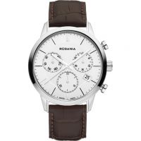 Rodania Swiss Ontario Gents strap Herenchronograaf Bruin RS2511320