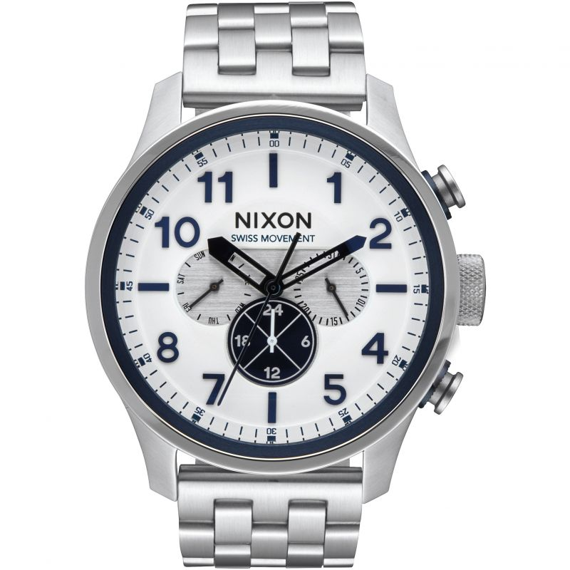 Mens Nixon The Safari Dual Time Watch