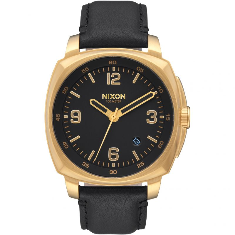 Unisex Nixon The Charger Leather Watch