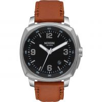 Mens Nixon The Charger Leather Watch