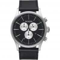 Herren Nixon The Sentry Chrono Leder Uhr