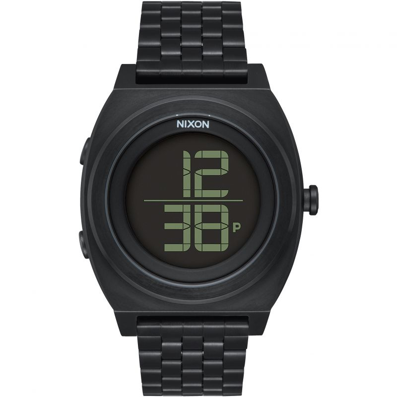 Mens Nixon The Time Teller Digi SS Watch