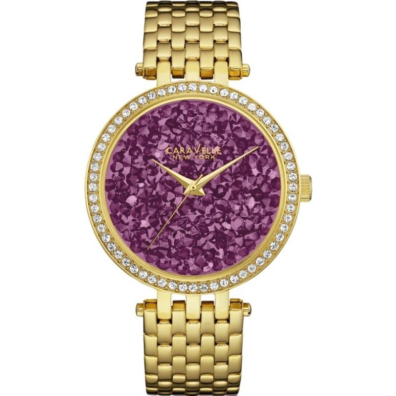 Ladies Caravelle New York Rock Crystal Watch 44L212