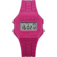 Damen Superdry mini Retro Digi Wecker Chronograf Uhr