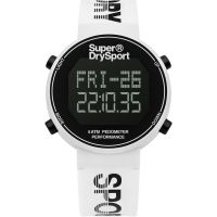 Unisex Superdry Digi Pedometer Chronograph Watch