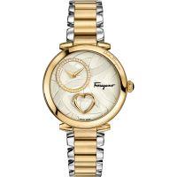 Damen Salvatore Ferragamo Cuore Diamond Watch FE2080016