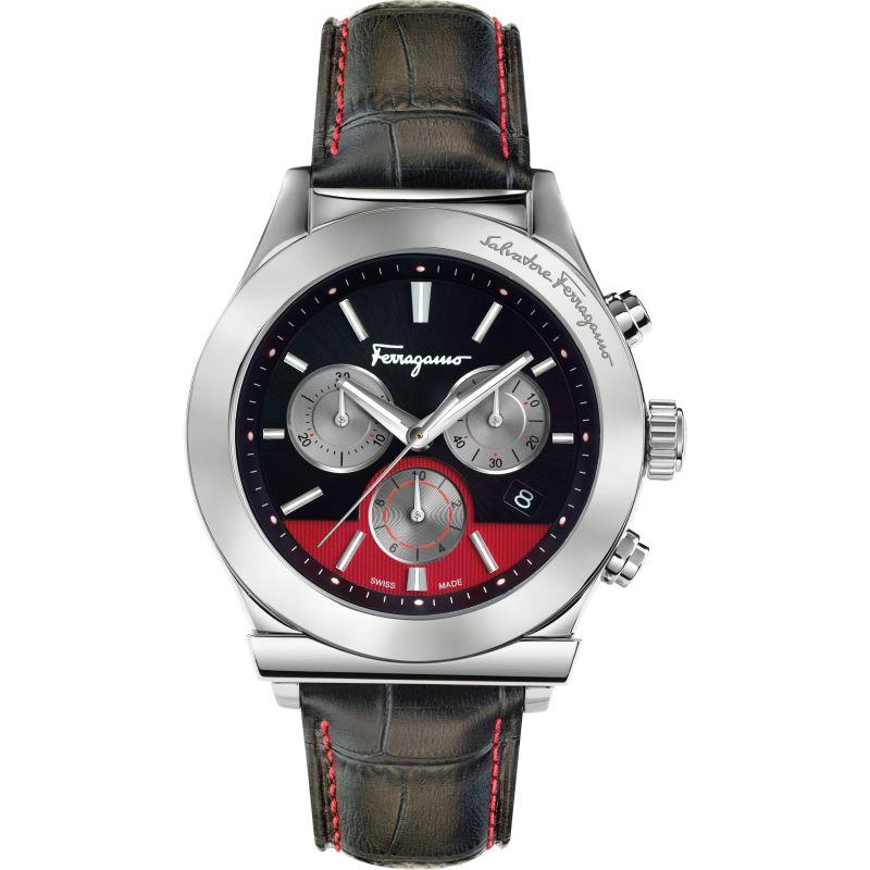Mens Salvatore Ferragamo 1898 Chronograph Watch