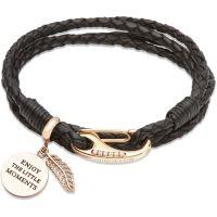 Ladies Unique Rose Gold Plated Bracelet B332BL/19CM