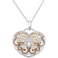 Ladies Unique Sterling Silver Necklace MK-575