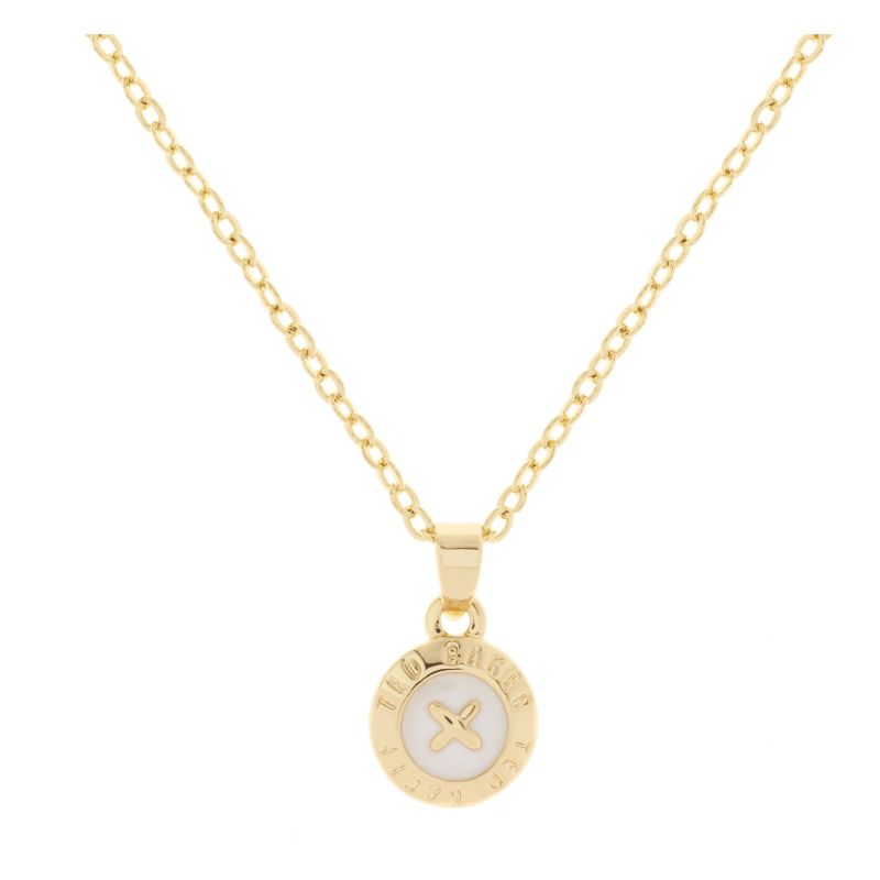 Ladies Ted Baker Gold Plated Elva Mini Button Pendant TBJ1260-02-08