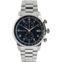 Mens Paul Smith Block Metal Bracelet Chronograph Watch