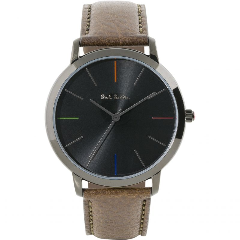 Unisex Paul Smith MA Leather Strap Watch