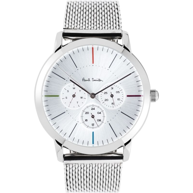 Mens Paul Smith MA Multifunction Mesh Bracelet Watch