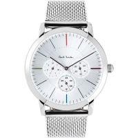 homme Paul Smith MA Multifunction Mesh Bracelet Watch P10111