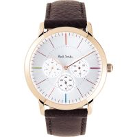 Mens Paul Smith MA Multifunction Leather Strap Watch