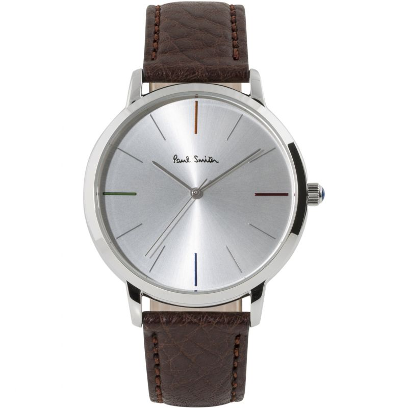 Unisex Paul Smith MA Small Leather Strap Watch P10100