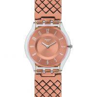 femme Swatch Pink Cushion Watch SFE110GA