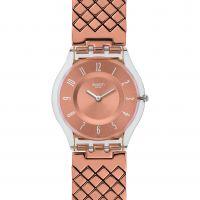 Damen Swatch Pink Polster Uhr