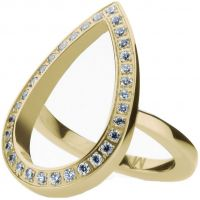 Ladies STORM Gold Plated Elipsia Ring Size M