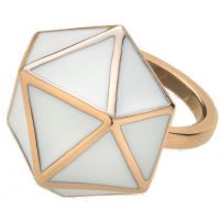 Ladies STORM Rose Gold Plated Geo Ring Size L