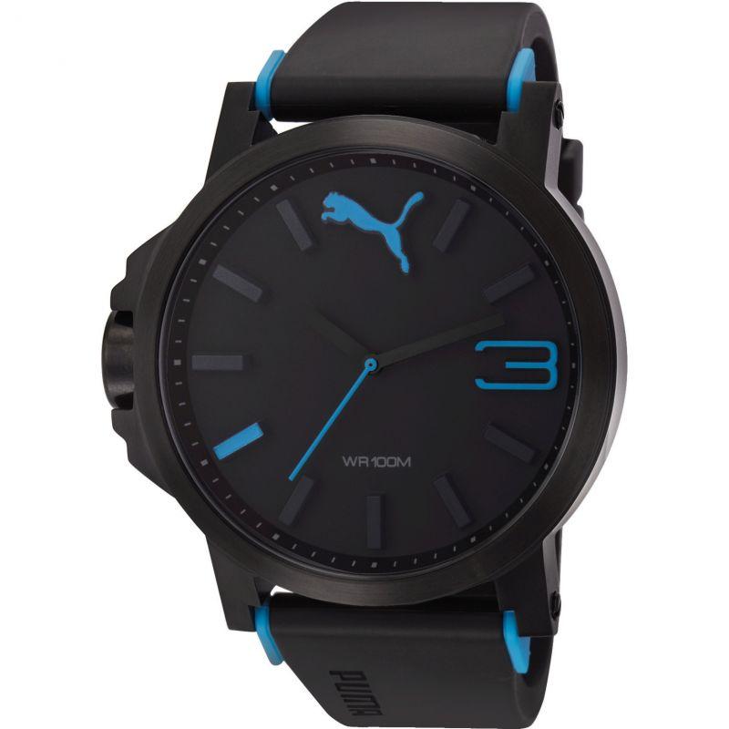 Mens Puma PU10294 ULTRASIZE 50 - black blue Watch