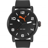 Puma PU10414 ALTERNATIVE ROUND - gun black Herenhorloge Zwart PU104141001