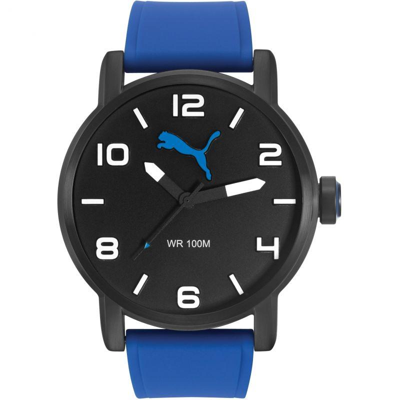 Mens Puma PU10414 ALTERNATIVE ROUND - black blue Watch
