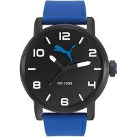 Herren Puma PU10414 ALTERNATIVE ROUND - black blue Uhr