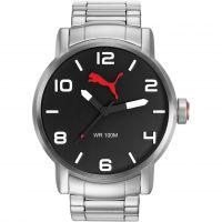 Herren Puma PU10414 ALTERNATIVE ROUND - metal black Uhr