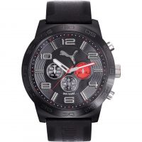 Puma PU10422 DEFINITION - black red Herenhorloge Zwart PU104221001