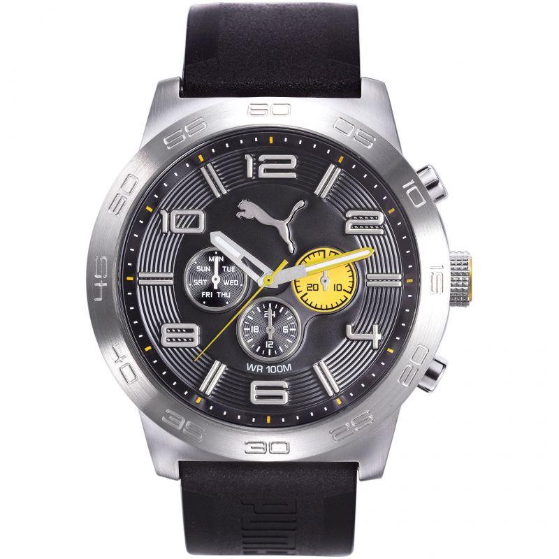 Mens Puma PU10422 DEFINITION - silver black yellow Watch