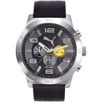 Puma PU10422 DEFINITION - silver black yellow Herenhorloge Zwart PU104221002