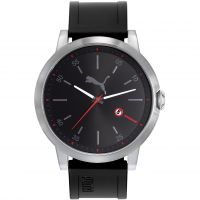 Puma PU10423 LIBERATED - silver black red Herenhorloge Zwart PU104231001