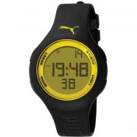 Mens Puma PU91080 - black yellow Alarm Chronograph Watch