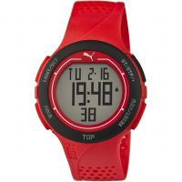 Mens Puma PU91121 TOUCH - red black Alarm Chronograph Watch