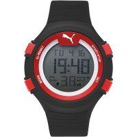 Herren Puma PU91128 FAAS 100 L - black red Wecker Chronograf Uhr
