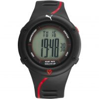 Herren Puma PU91136 CARDIAC 01 - black red Wecker Chronograf Uhr