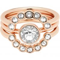 Ladies Ted Baker Rose Gold Plated Cadyna Concentric Crystal Ring ML TBJ1317-24-02SM