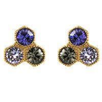 Damen Juicy Couture PVD Gold überzogen Geometric luxuriös Wishes Stud Ohrringe