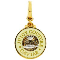 Ladies Juicy Couture PVD Gold plated Caviar Charm