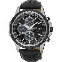 Herren Seiko Wecker Chronograf solar betrieben Uhr